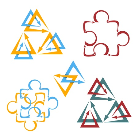 duality: Set of abstract design elements Illustration