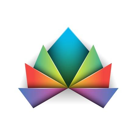 flor de loto: S�mbolo abstracto del dise�o