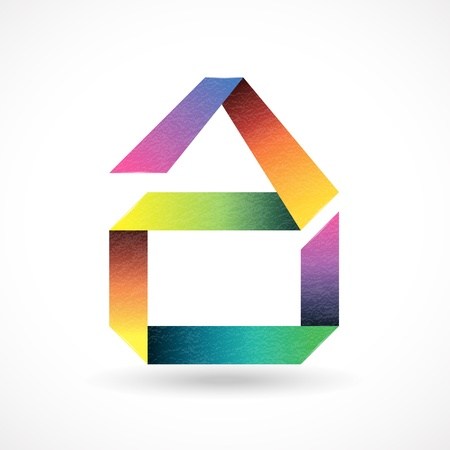 case colorate: Abstract house design simbolo