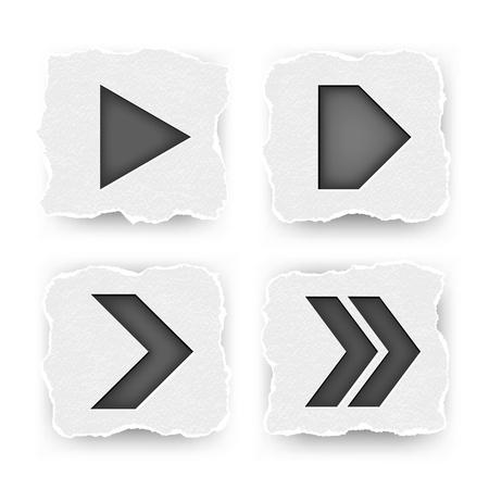 navigation panel: Set of arrows
