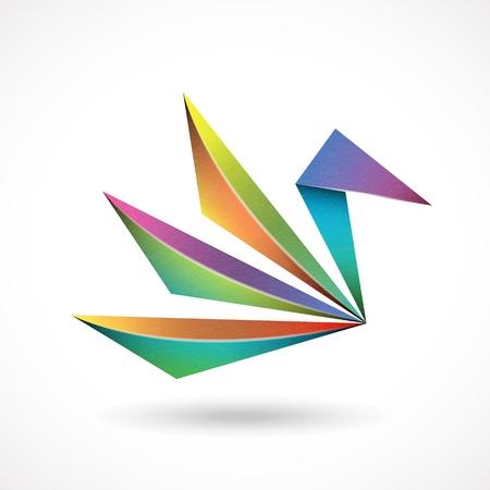 origami oiseau: R�sum� signe d'oiseaux Illustration