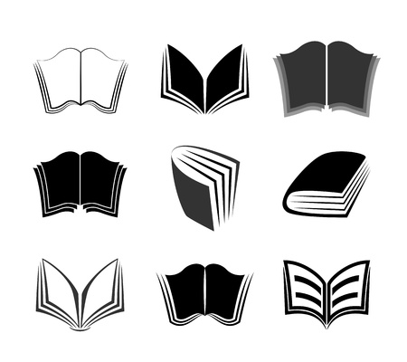 Graphical books icons