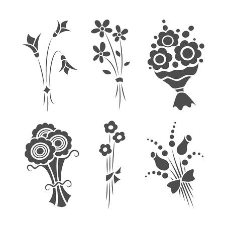 rosas negras: Ramos gráficas Vectores