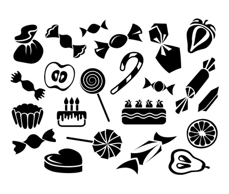 Sweets, fruits and cakes Vector