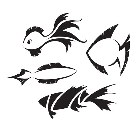 fishy: Fish design symbols Illustration