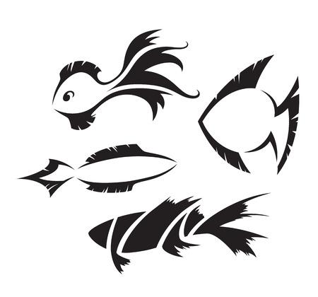 pez cristiano: Símbolos del diseño de los pescados