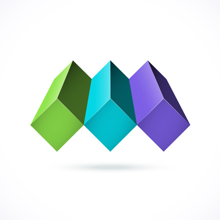 Abstract design concept. Can be used as corporate identity, logo, or for business background. Illustration