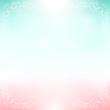 Pale romantic background. Empty vector template with easily changeable decorative elements.