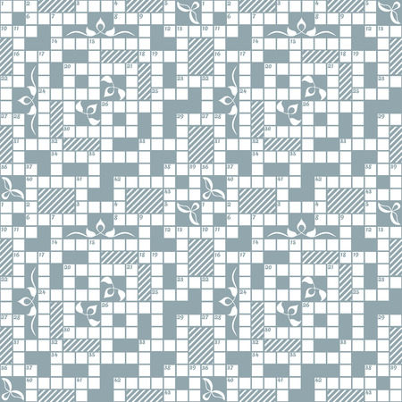 clipping mask: Seamless crossword grid pattern, can be used as background. Color easily changed. Without clipping mask. Illustration