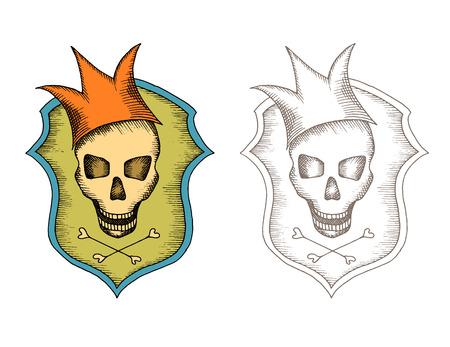 wag: Stylized skull design. Based on a hand drawn sketch.