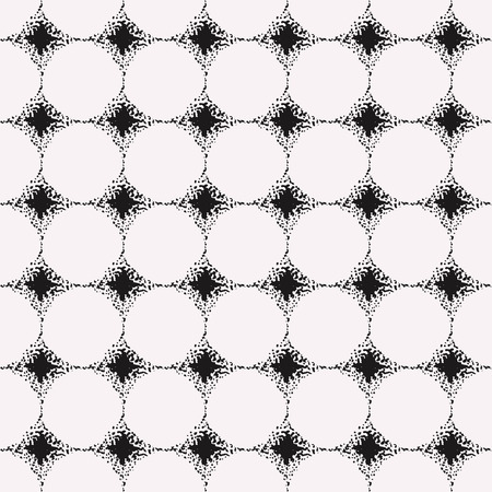 clipping mask: Seamless graphical pattern. Hand dotted, editable colors, without gradients and clipping mask.