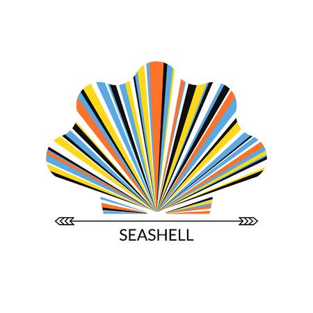shell pattern: Vector sea shell. Multicolor concept,