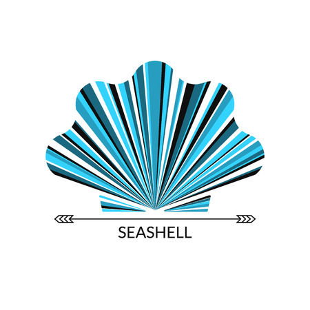Vector sea shell. Multicolor concept,