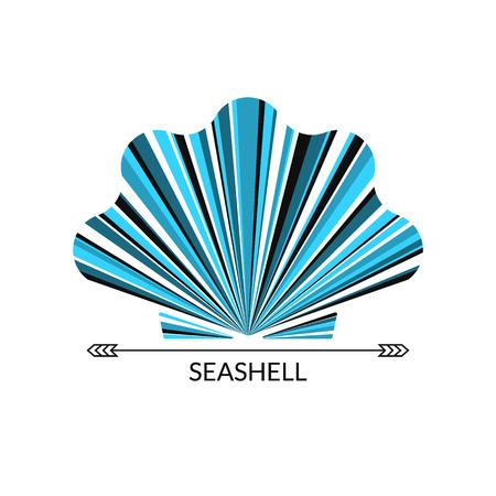 sea shells on beach: Vector sea shell. Multicolor concept,