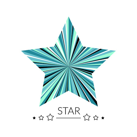 star logo: Multicolor star concept. Can be used as logo.