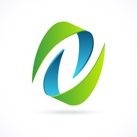 Abstract design concept, pictogram or logotype. Symbol of movement and partnership. Illustration