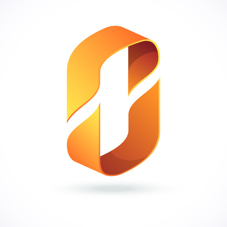 weave: Abstract design concept, pictogram or logotype. Symbol of movement and partnership. Illustration
