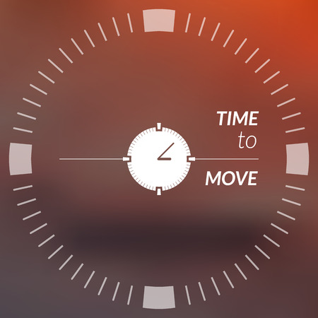 shadowy: Blurry background with text and index dial. Vector, square.