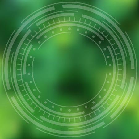 ciclos: Fondo verde abstracto, desdibujado con ciclos conc�ntricos.