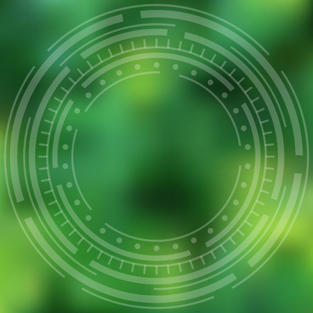 sappy: Green abstract background, blurred with concentric cycles.