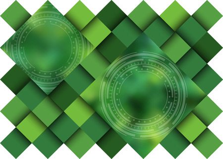 diffused: Green abstract background, no clipping mask.