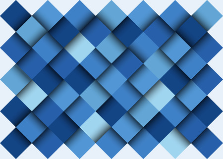 cubical: Abstact blue background, bright gradations, no clipping mask. Illustration