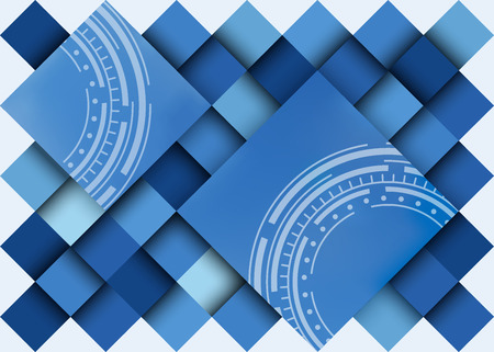 clipping mask: Abstract blue background, different bright tints. No clipping mask. Illustration