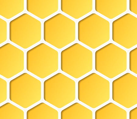 abejas panal: Vector de nido de abeja de fondo sin fisuras.