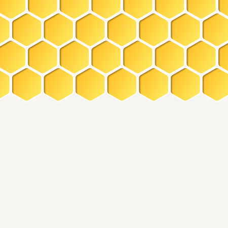 Empty honeycombs background. Vector, for advertising, brochures. Square. 일러스트