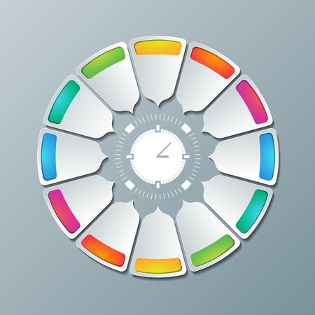 regimen: Abstract background for presentation, brochure, web. Time management design.