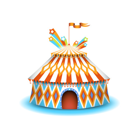 Colorful circus illustration, isolated vector object. Vector