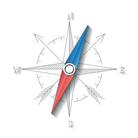 picto: Vector linear compass conceptual sign