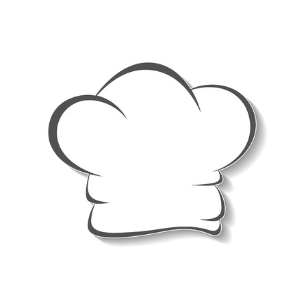 kitchener: Chefs hat icon, isolated graphical symbol.