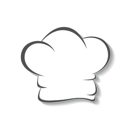 Hut ikone Küchenchefs, isoliert grafisches Symbol. Standard-Bild - 39244045