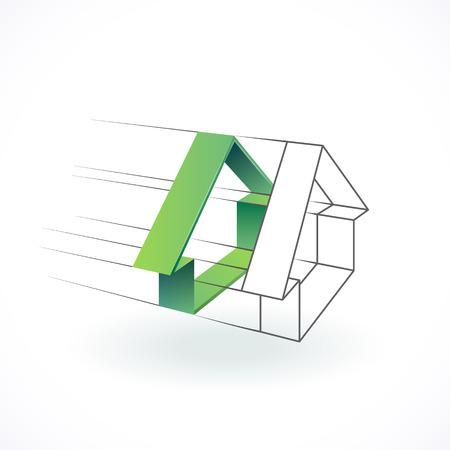 architecture logo: Construction and architecture logo, real estate design concept.