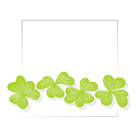 graphical: Clover leaves graphical background, St.Patrick Illustration