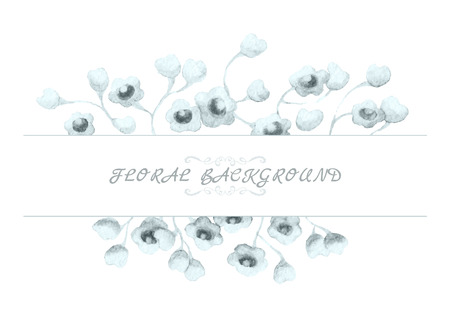pale: Watercolor floral background, vector, decorative vintage style.