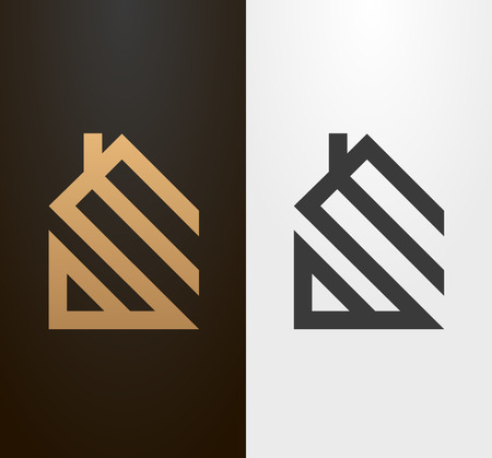 Simple line house , icon.