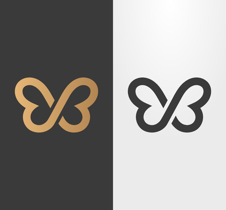 Butterfly line , icon.
