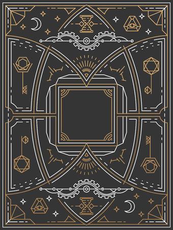 stark: Lineart background, retro linear graphical art
