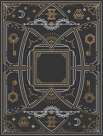Lineart background, retro linear graphical art