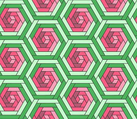 rosebud: Geometrical polygonal seamless pattern, abstract rose flower background.