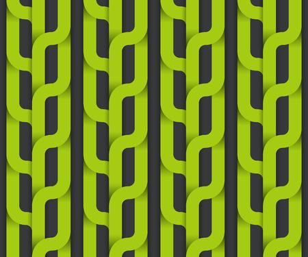 Vector seamless pattern, green plait. Illustration