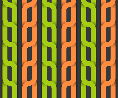 plaiting: Vector seamless pattern, colorful plait. Illustration