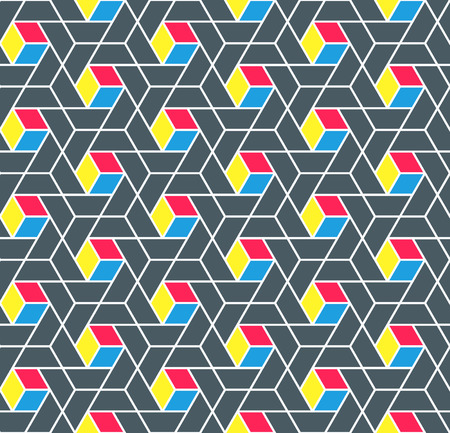 modernism: Bright blocks polygonal seamless pattern