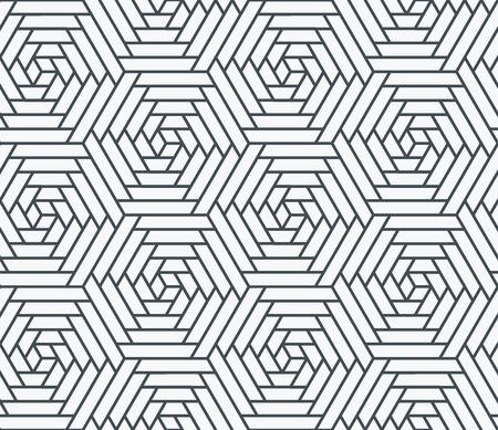 monochromatic: Geometrical polygonal seamless pattern, monochromatic background.