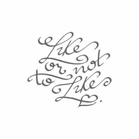 calligraphical: Lettering handwritten inscription, vector, isolated. Joke about social networks. For motivational placards and background.