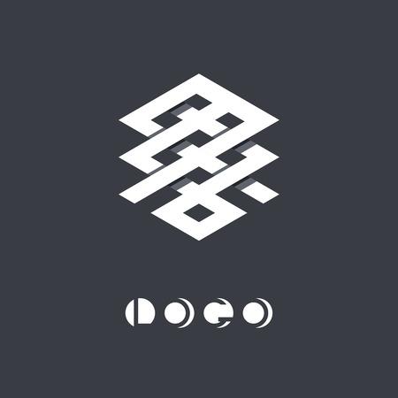 brand identity: Brand identity symbol.  Illustration
