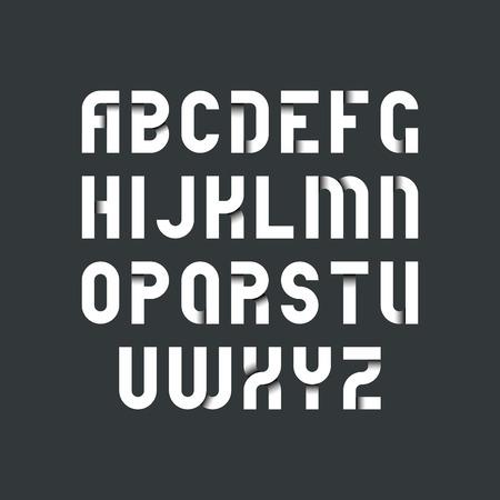 tipos: Fuente estricta Blanca para los fondos oscuros, latino tipografía negrita con sombras dentro de las letras.