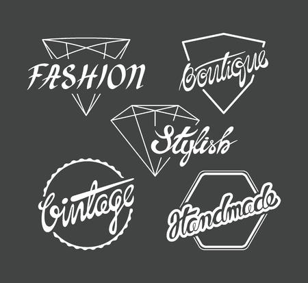 written: Set of fashion industry labels, for tags on clothes. Online shops hand written design elements. Not auto-traced. Good for blurry backgrounds. Illustration